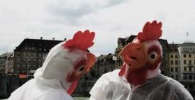Oster-Flyer und – Protest Aktionen in mehreren CH Städten