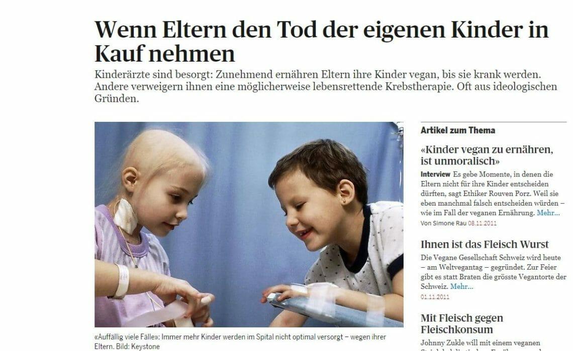 Stellungnahme der Veganen Gesellschaft Schweiz zum Artikel im Tagesanzeiger