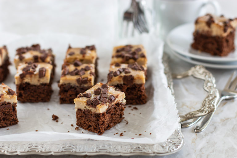 Erdnussbutter-Cheesecake-Brownies