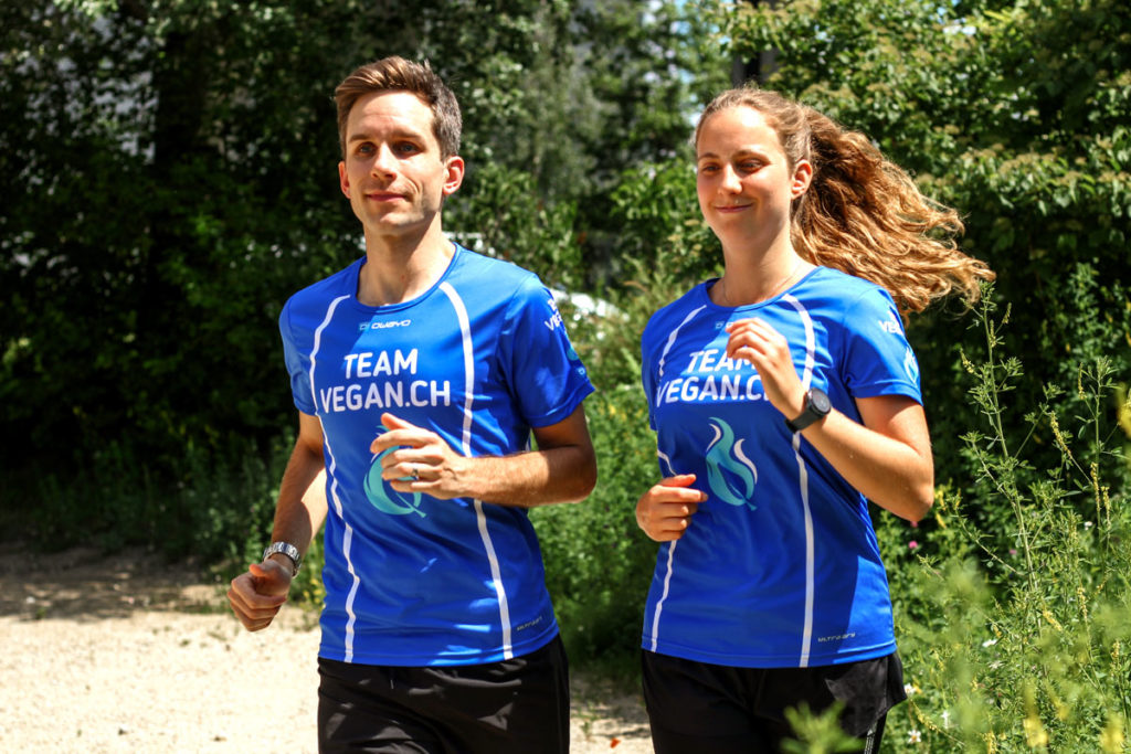 Laufshirt Team Vegan.ch