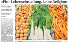 Artikel über Veganismus im Bieler Tagblatt