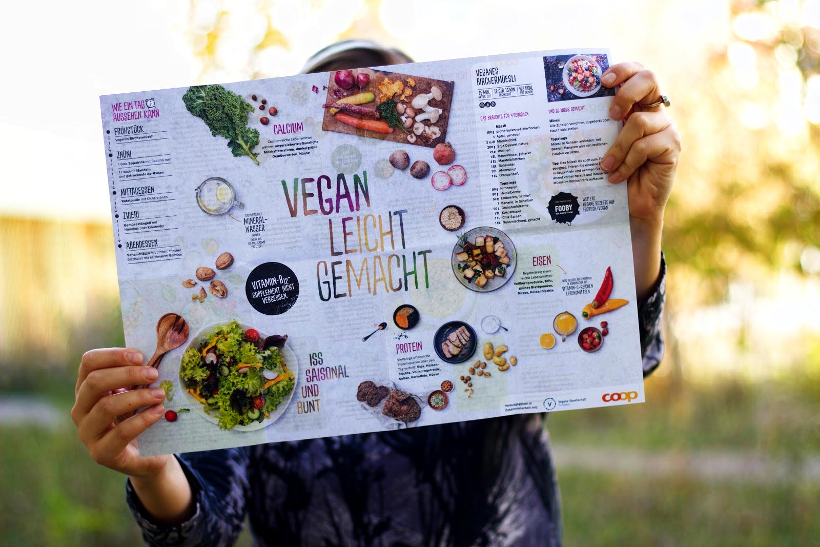 coop broschüre vegan leicht gemacht: Poster