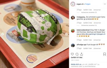 Veganer Rebel Whopper im Schweizer Burger King