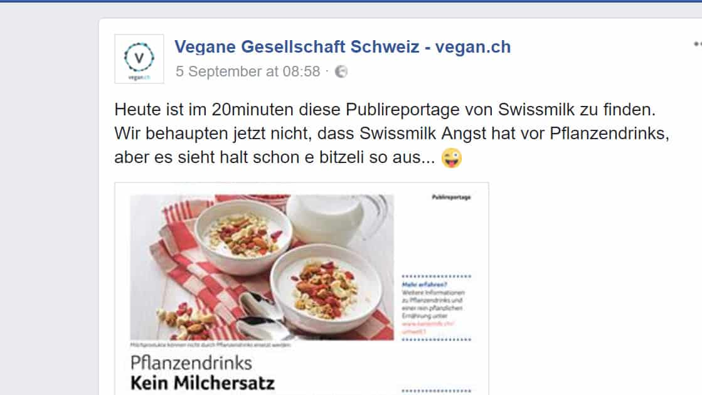 Unsere Kritik an Swissmilk im Watson