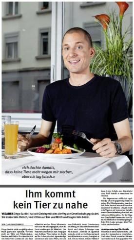 Diego: Porträt eines Veganers im Tagblatt