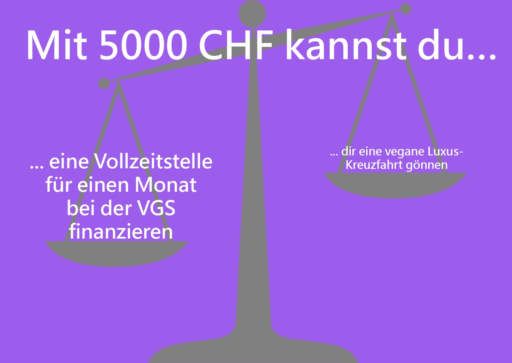 Spenden Nudging 5000 Franken Seite A